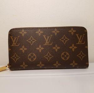 Louis Vuitton Monogram Brown Leather Wallet